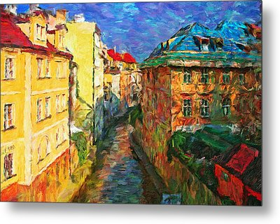 Prague Like Venice Metal Print