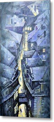 Prague Winter Melantrihova Str Metal Print by Yuriy Shevchuk