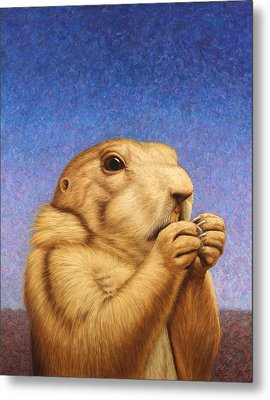 Prairie Dog Metal Print by James W Johnson