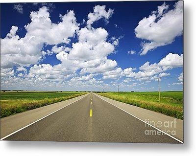 Prairie Highway Metal Print by Elena Elisseeva