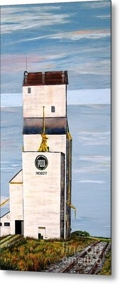 Prairie Icon - Manitoba Pool Elevator Metal Print by Marilyn  McNish
