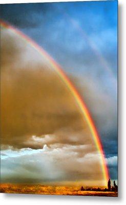 Prairie Rainbow Metal Print by Ellen Heaverlo