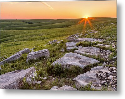 Prairie Rocks Metal Print by Scott Bean