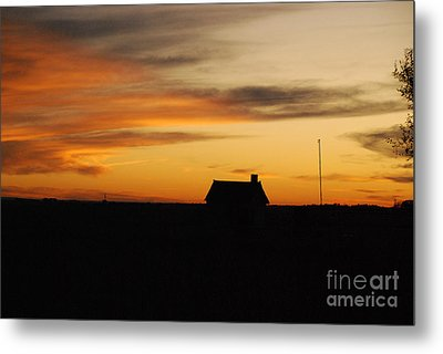 Metal Print featuring the photograph Prairie Sunset by Mary Carol Story