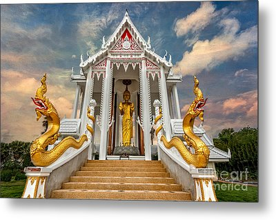 Pranburi Temple Metal Print