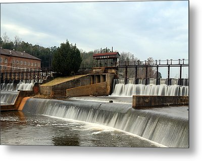 Metal Print featuring the photograph Prattville Dam Prattville Alabama by Charles Beeler
