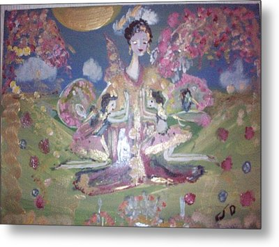 Metal Print featuring the painting Pray For Japan by Judith Desrosiers