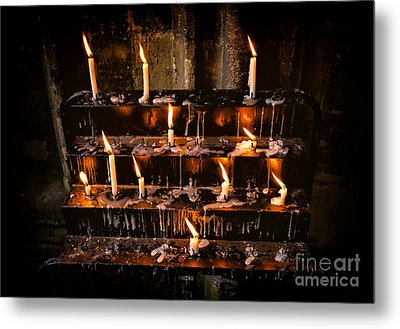 Prayer Candles Metal Print by Adrian Evans