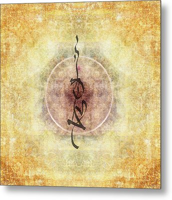 Prayer Flag 36 Metal Print by Carol Leigh