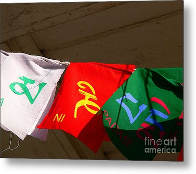 Prayer Flags Metal Print by Angela Wright