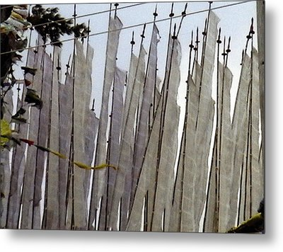 Metal Print featuring the photograph Prayer Flags by Patrick Morgan