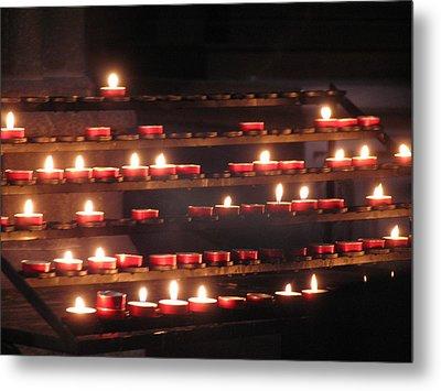 Prayer Lights Metal Print