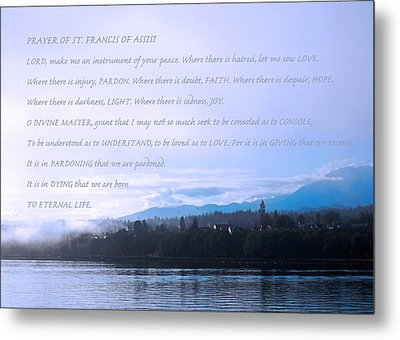 Prayer Of St. Francis Of Assisi Metal Print by Connie Fox