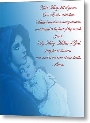 Metal Print featuring the digital art Prayer To Virgin Mary 2 by A Samuel