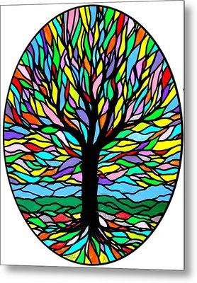 Prayer Tree Metal Print