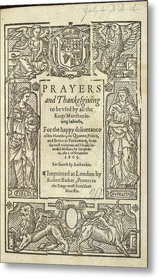 Prayers And Thanksgiving Metal Print by British Library
