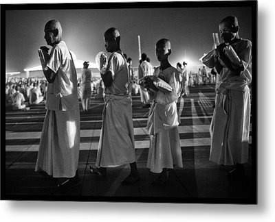 Prayers For Peace In Thaiand Metal Print by David Longstreath