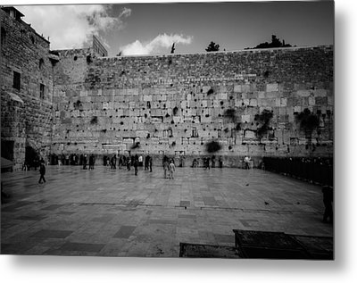 Praying At The Western Wall Metal Print