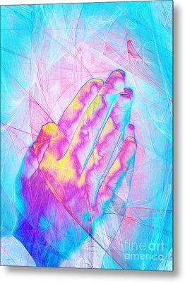 Praying Hands 20150302v1 Metal Print