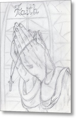 Praying Hands Metal Print