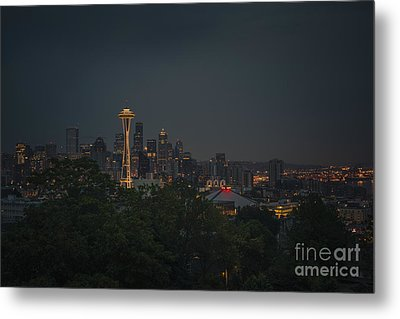 Pre-dawn Seattle Metal Print by Gene Garnace