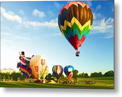 Metal Print featuring the photograph Preakness Balloon Festival by Dana Sohr