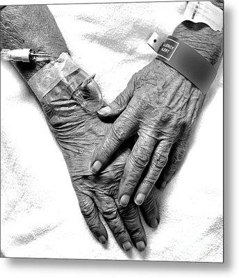 Precious Hands Metal Print