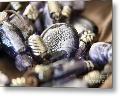 Metal Print featuring the photograph Precious Purple by Lynn England