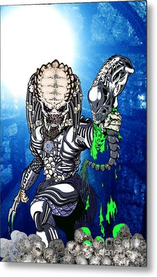 Predator Vs Alien To Be Or Not To Be Metal Print