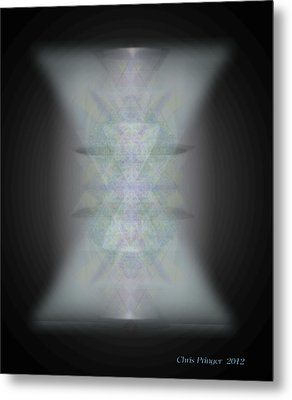 Metal Print featuring the digital art Predawn Chalice Still All One by Christopher Pringer