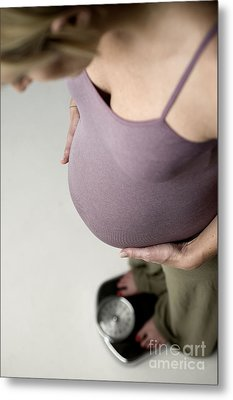 Pregnant Female Metal Print