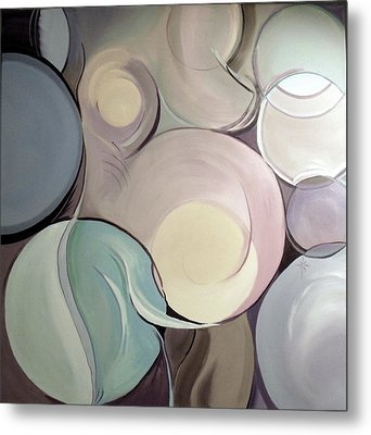 Metal Print featuring the painting Pregnant Possibilities by Jodie Marie Anne Richardson Traugott          aka jm-ART