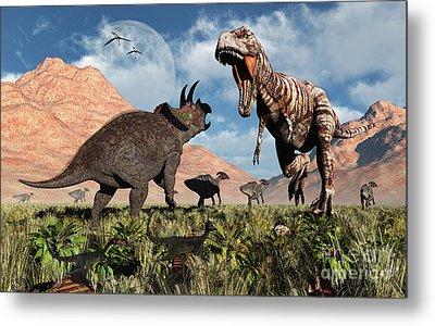 Prehistoric Battle Metal Print by Mark Stevenson