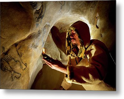 Prehistoric Cave Paintings Metal Print by Philippe Psaila