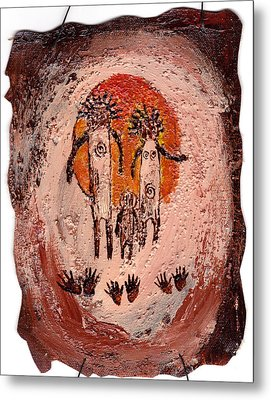 Prehistoric Family Metal Print by Shelley Bain