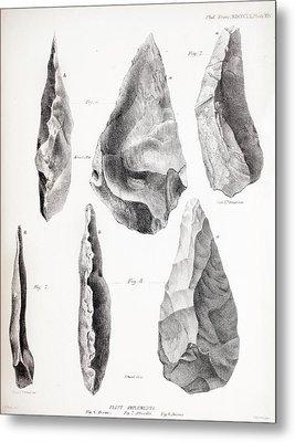 Prehistoric Stone Tools Metal Print by Paul D Stewart