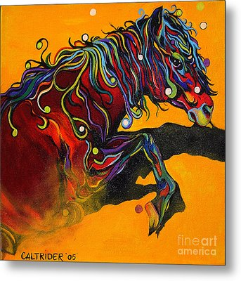 Metal Print featuring the painting Prelude To A Dance by Alison Caltrider