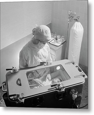 Premature Baby Unit Metal Print by Library Of Congress