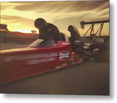 Prepare For Thunder Metal Print by Dennis Buckman