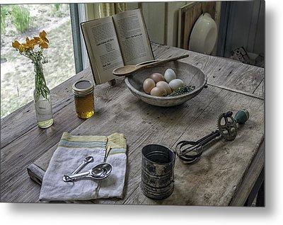 Preparing Dinner With Marjorie  Metal Print by Lynn Palmer