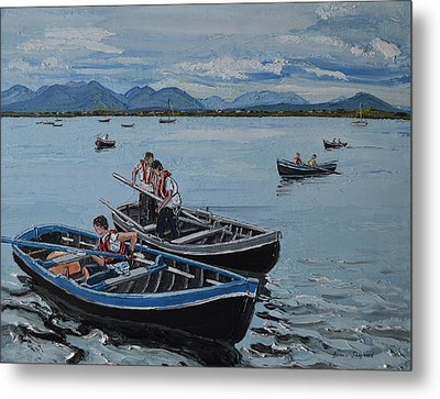 Preparing For The Currach Race Roundstone Ireland Metal Print
