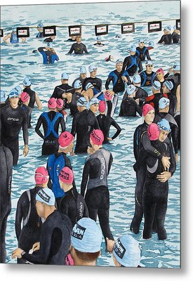 Preparing For The Swim Metal Print by Tanya Petruk