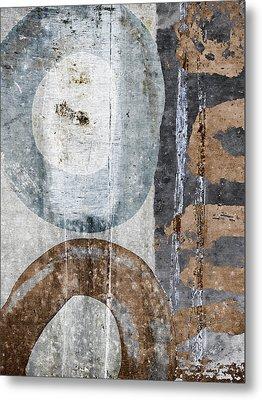 Silken Circles 1 Metal Print by Carol Leigh