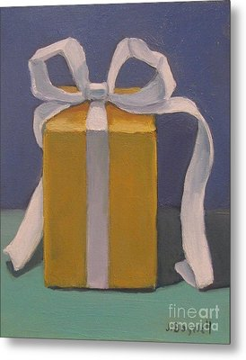 Metal Print featuring the painting Present Series 4 by Jennifer Boswell