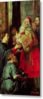 Presentation In The Temple Metal Print by Rubens