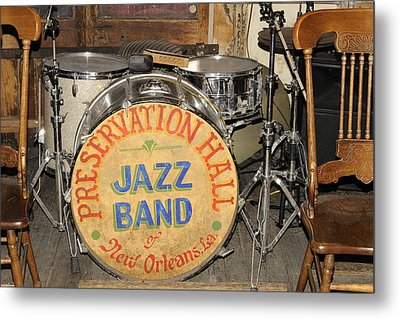 Preservation Hall Jazz Band Drum Metal Print