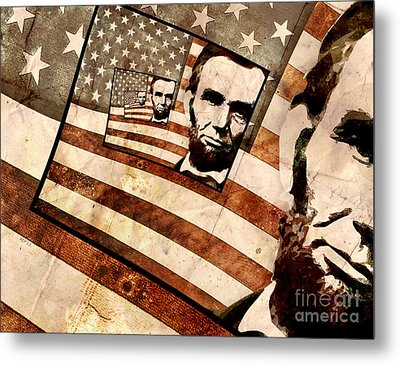 President Abraham Lincoln Metal Print by Phil Perkins