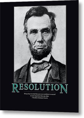 President Abraham Lincoln Resolution  Metal Print by Retro Images Archive