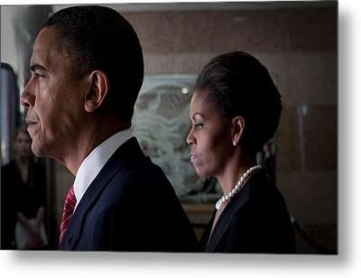 President And Mrs Obama Metal Print by Mountain Dreams