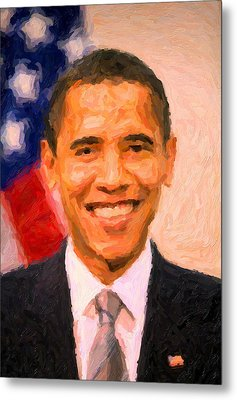 President Barack Obama Metal Print by Celestial Images